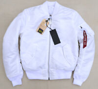ALPHA INDUSTRIES MA-1 Slim Flight Pilot Jacket Bomber Reversible White Men's S