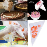 100PCs Disposable Pastry Bag Fondant  Icing Piping Cake Pastry Cupcake Decor