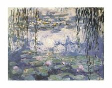 "MONET CLAUDE - WATER LILIES AND WILLOW BRANCHES- ART PRINT POSTER 11""X14""(1075)"