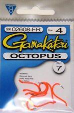 Gamakatsu Hooks Octopus Colored #02611-P Pink sz 1//0 qty 5 Ice fishing Steelhead