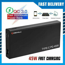 Portable Power Bank PD 45W 20000mAh Type-C USB Laptop Fast Charge Universal New