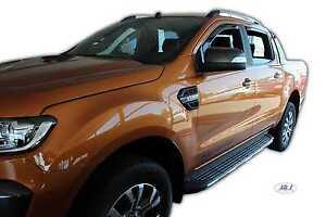 DFO15304 Ford Ranger  2012 - up wind deflectors  4DOOR  4pc  set TINTED HEKO