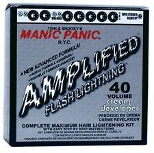 MANIC PANIC FLASH LIGHTNING HAIR BLEACH KIT 40 VOLUME w/PRICE MEET/BEAT