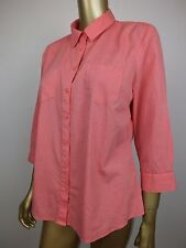 SPORTSCRAFT PINK PINPOINT BUTTON DOWN Blouse SHIRT Top TUNIC 100% COTTON 12 M