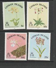 Cayman islands 1985 orchids UM SG 605/08