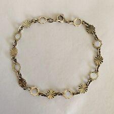 Vintage Sterling Stamped Silver Chain Bracelet