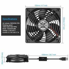 USB Ventilator lüfter 120mm Gehäuselüfter 3 Einstellbaren Computer Fan 5V DE