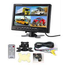 9 Inch TFT LCD Quad Split Rear View Monitor Parking System 4 RCA for Truck Bus