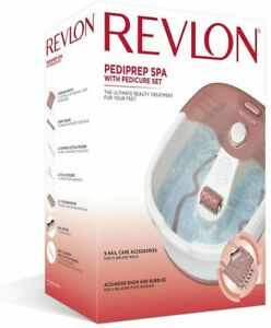 REVLON Pediprep Foot Spa and Pedicure Set with Nine Accessories