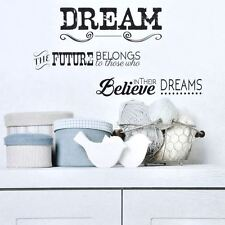 PVC Spruch Wandtattoo Room Decor Sticker Deko,Wallpaper,Design Dream the Future.