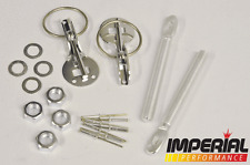 BONNET PINS KIT UNIVERSAL FIT SILVER ANODIZED for CARBON FIBRE FIBREGLASS GRP