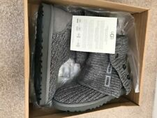 BNIB Genuine UGG Classic Cardy Grey Knitted Boot Women's Size 5.5 UK / 7 US NEW