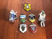 LOT of (7) Vintage STERLING SILVER CHARMS  (all about Germany)
