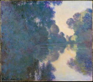 Claude Monet Morning on the Seine near Giverny Poster Giclee Canvas Print