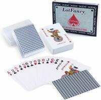 2 Decks Playing Cards 100% PVC Plastic with Case Waterproof New Sealed Deck Card