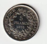 5 FRANCS 1873 A Hercule (Argent) Paris F.334/9 - SUP++
