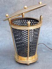 Lampe a poser design Vintage MATHIEU MATEGOT   tôle perforé et laiton