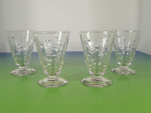 Rock Sharpe Roselle Juice Crystal Tumbler (s) LOT OF 4 Optic Glass Cut #2006