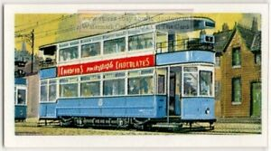 c1950 Double Decker Electric Tram Bradford England  Vintage Trade Ad Card