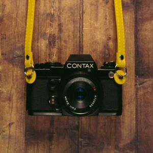 Yellow 120cm PU Leather Camera Strap For Canon Nikon Sony Olympus Leica
