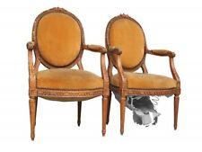 paire de fauteuil louis XVI velours en hêtre