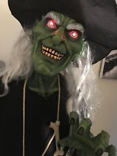 Spirit Halloween Grinning Gertrude Life Size 5 Ft Evil Witch Animatronic Prop