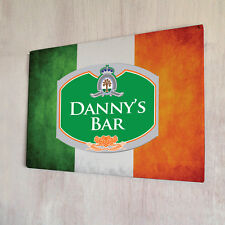 Personalised Irish flag Beer Label sign A4 metal pub plaque st patricks day
