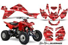 Suzuki LTZ 400 AMR Racing Graphic Kit Wrap Quad Decals ATV 2009-2012 SLVR HZ RED