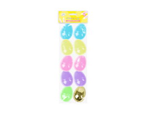 Easter Fillable Eggs x 10 - Novelty Egg Crafts Art Make