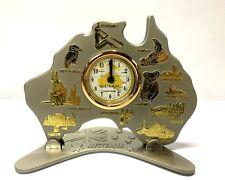 Australia Map Clock w Movement Australia Souvenir Table Clock Copper Gift Decor