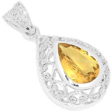 Citrine 925 Sterling Silver Pendant Jewelry P1336C