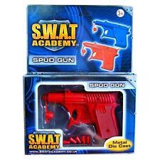 SWAT Mission Die-cast Metal Spud Gun - Assorted Colours Red or Blue 1x Random