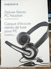 INSIGNIA DELUXE STEREO PC HEADSET W/MICROPHONE - NS-PAH5205-C