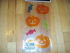New ! Happy Halloween Window Gel Stickers Cling Decor Pumkins