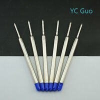 6X Compatible Parker Ball Point Pen Refills 6 Blue