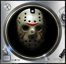 "Hockey Mask #1 Friday 13th Slipmat Turntable 12"" Record Player, DJ Audiophile"