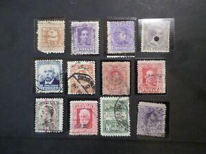 ESPAGNE LOT de timbres ANCIENS CLASSIQUES oblitérés, cancelled STAMPS