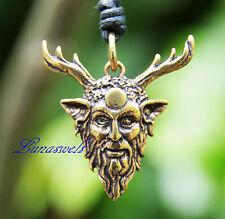 Cernunnos Maske Bronze Schmuck Anhänger Bronze am Band