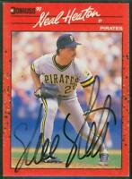 Original Autograph of Neal Heaton of the Pittsburgh Pirates on a 1990 Donruss