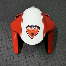 Ducati Corse 749 999 999s Red X White Striped Front Fender OEM - Good Condition