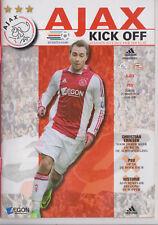 Programma / Programme Ajax Amsterdam v PSV Eindhoven 25-03-2012