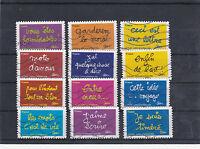 FRANCE 2011 SOURIRES DE BEN SERIE COMPLETE DE 12 TIMBRES OBLITERE