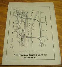 1923 Route Map of HUDSON RIVER BRIDGE COMPANY AT ALBANY///NY