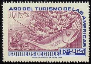 /CHILE 1972 Tourism Year of the Americas Sc431/SG703 Fish and Produce MNH @RM485