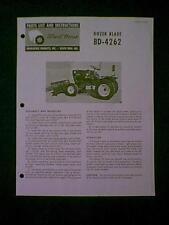 Wheel Horse Dozer Blade Bd 4262 Parts Manual