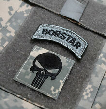 KANDAHAR-WHACKER© JSOC AFGHAN ARMY MP TRAINING SSI: CBP BORSTAR Punisher Skull