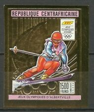 CENTRAFRIQUE JEUX OLYMPIQUES OLYMPICS GAMES NON DENTELE IMPERF ** 1991 OR GOLD