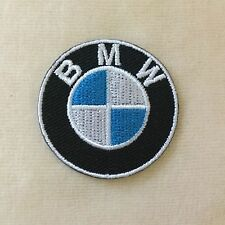 1.5inches BMW MOTOR SPORT RACING CAR LOGO EMBROIDERY IRON ON PATCH BADGE #ROUND