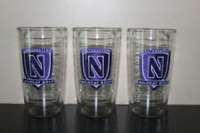 Set of 3 Northwestern Wildcat Golf Tervis Tumbler Cups-Drinking Glasses