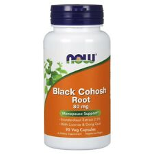 Now Foods Black Cohosh Root 80 mg - 90 Veg Capsules FRESH, FREE SHIPPING